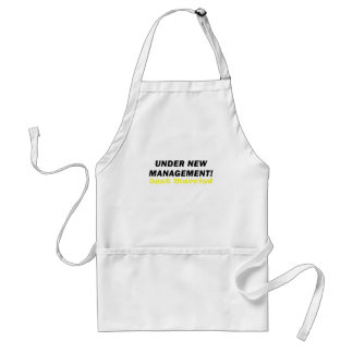 Under New Management Just Married Adult Apron