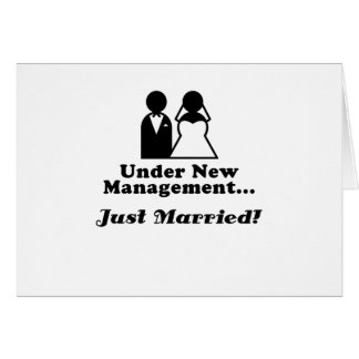 Under New Management Just Married Card
