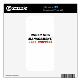 Under New Management Just Married Decals For iPhone 4S
