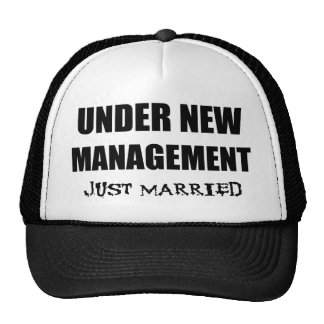 Under New Management Just Married Mesh Hat