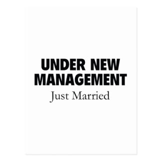 Under New Management. Just Married. Postcard