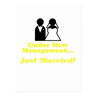 Under New Management Just Married Postcard