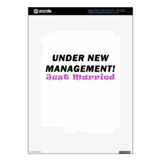 Under New Management Just Married Skins For iPad 3