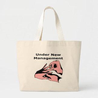 Under New Management Large Tote Bag