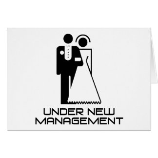 Under New Management Married Card