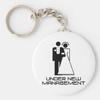Under New Management Married Keychain