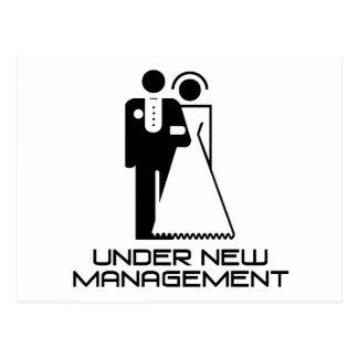 Under New Management Married Postcard