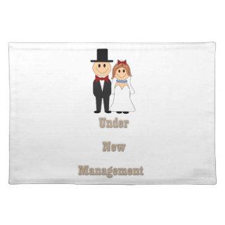 Under new management cloth place mat