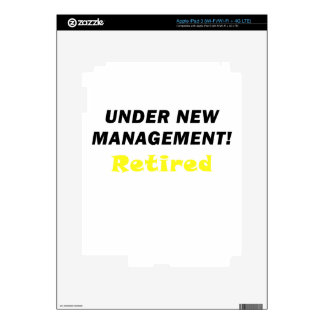 Under New Management Retired iPad 3 Decal