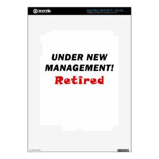 Under New Management Retired iPad 3 Decals