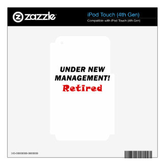 Under New Management Retired Skins For iPod Touch 4G
