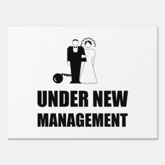 Under New Management Wedding Ball Chain Sign