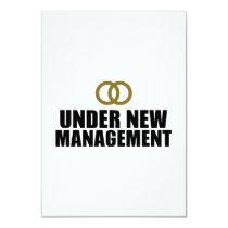 Under New Management Wedding Card