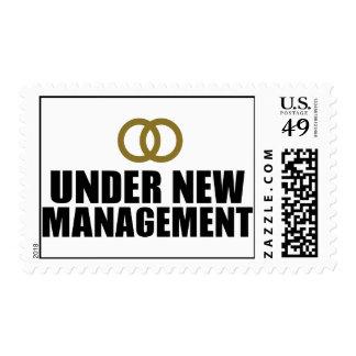 Under New Management Wedding Stamps