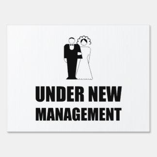 Under New Management Wedding Sign