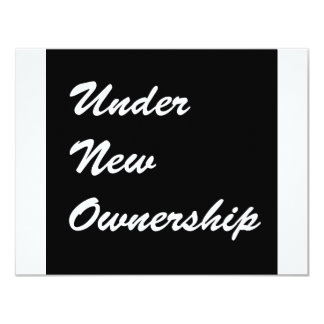 Under New Ownership Card