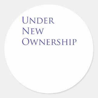 Under new ownership classic round sticker