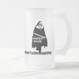 Under None UN Nun Frosted Glass Stein