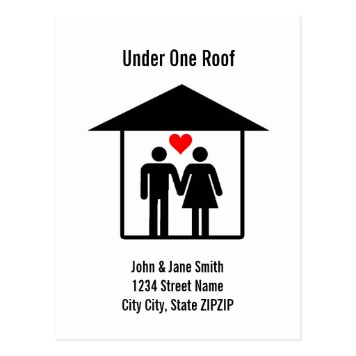Under One Roof Post Card