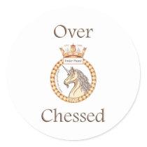 Under Played Chess Round Sticker
