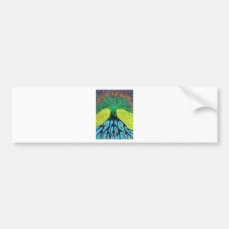 Under Protection Of Night Car Bumper Sticker