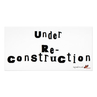 Under Re-construction Picture Card