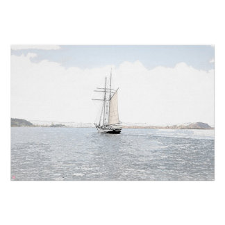 Under Sail - Watercolour Drawing Poster
