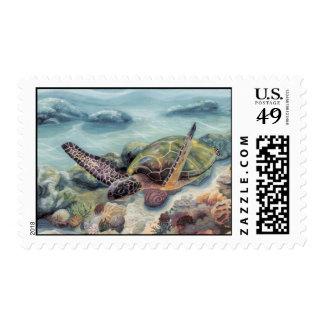 under sea honu postage