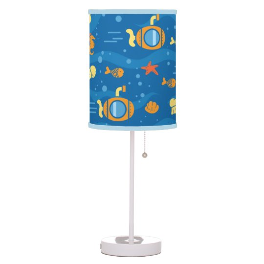 Under Sea Life Submarines Blue Lamp
