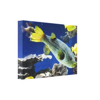 """""""Under Sea the"""" pez en lienzo, Impresión En Lona"""