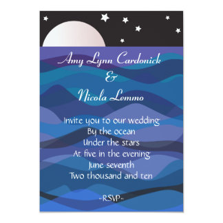 Under Stars Wedding Invitation Beach Destination