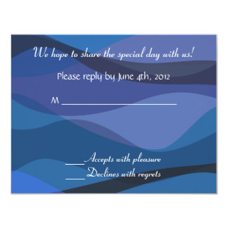Under Stars Wedding Invitation Beach Reply