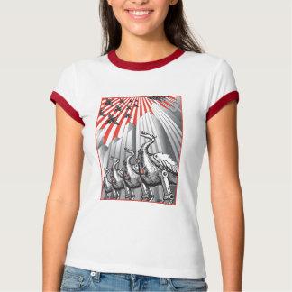 Under Surveillance Ladies Ringer T-Shirt