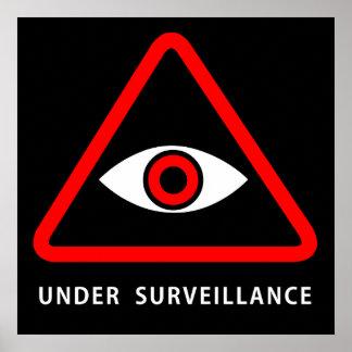 Under surveillance square sign