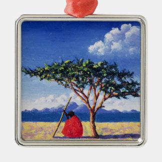 Under the Acacia Tree 1991 Metal Ornament
