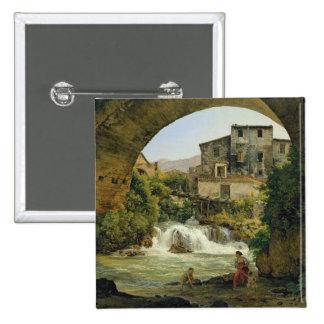 Under the arch of a bridge in Italy, 1822 Pinback Button
