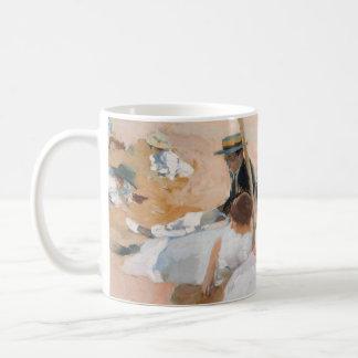 Under The Awning, On The Beach at Zarauz - Sorolla Coffee Mug