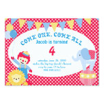 under the big top - childrens birthday personalized announcement