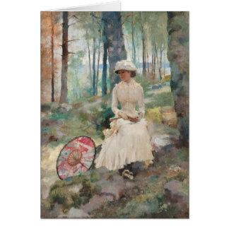 Under the birches CC0708 Albert Edelfelt Card