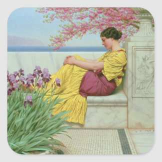 Under the Blossom that Hangs on the Bough, 1917 Square Sticker