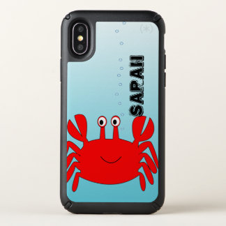 Under the Blue Sea Red Happy Crab Speck iPhone X Case