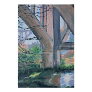 Under the Bridge Arroyo Seco Pasadena Poster