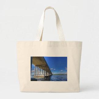 Under the Bridge Large Tote Bag