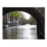 Under The Bridge of Amsterdam Post Card