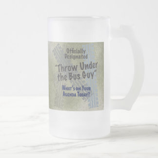 Under The Bus 2 Frosted Glass Mug