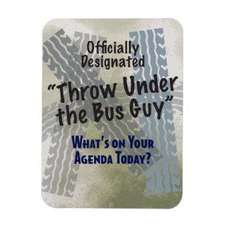 Under The Bus Guy Premium Photo Magnet