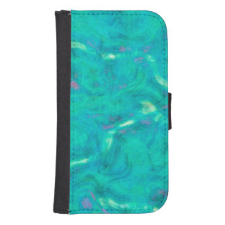 Under the Caribbean Sea Abstract Art Phone Wallet