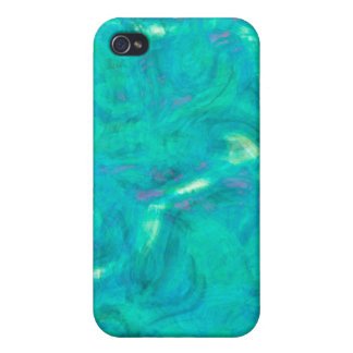 Under the Carribbean Sea Abstract Design iPhone 4 Case