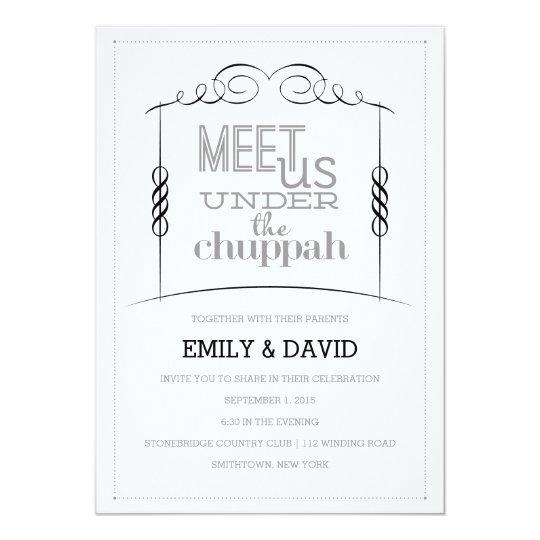 Under the chuppah jewish wedding invitation zazzle under the chuppah jewish wedding invitation stopboris Gallery