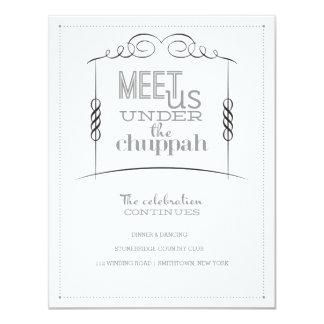 Under the Chuppah Jewish Wedding Reception Card
